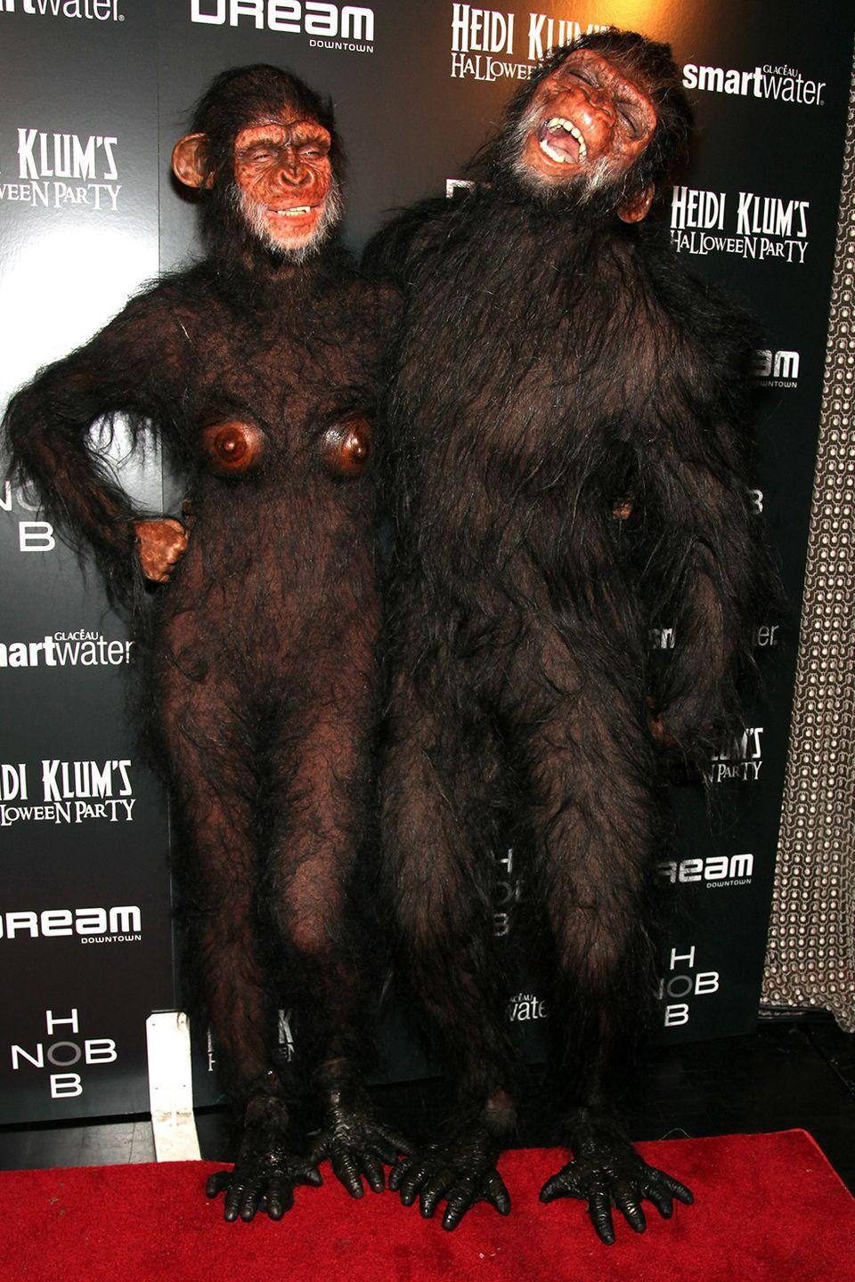 <p>Speaking of Heidi Klum, she and her then-husband Seal went for another animal-inspired ensemble for her 2011 Halloween party. </p>