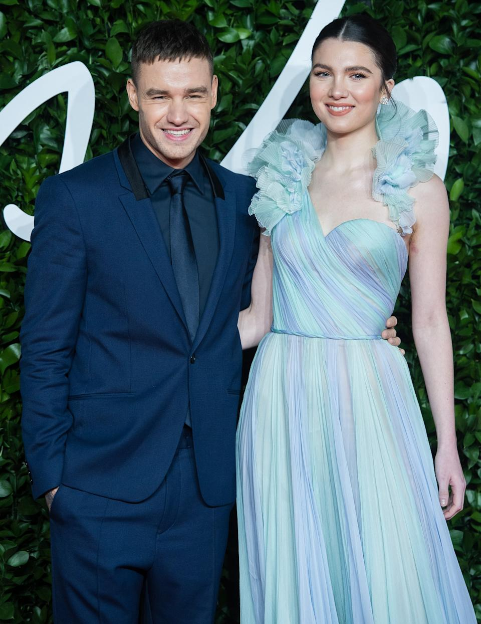 LONDON, ENGLAND - DECEMBER 02: Liam Payne and Maya Henry arrive at The Fashion Awards 2019 held at Royal Albert Hall on December 02, 2019 in London, England. (Photo by Samir Hussein/WireImage)