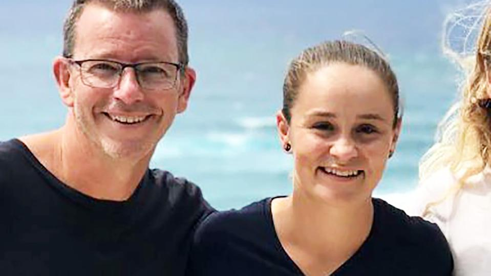 Ash Barty, pictured here with Ben Crowe.