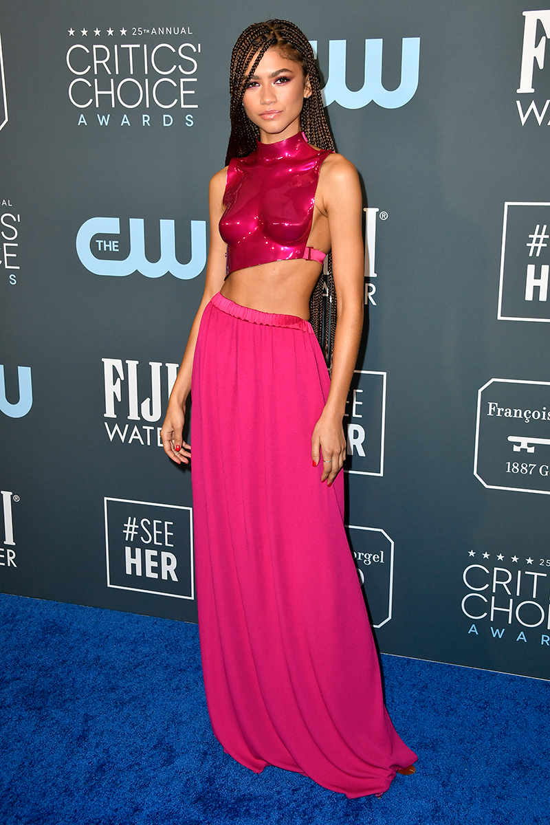 """<p>Unsurprisingly, Zendaya's absolutely incredible hot pink Tom Ford breastplate design, worn to the <a href=""""https://www.cosmopolitan.com/uk/fashion/celebrity/g30491681/critics-choice-awards-2020-best-dressed/"""" rel=""""nofollow noopener"""" target=""""_blank"""" data-ylk=""""slk:2020 Critics' Choice Awards"""" class=""""link rapid-noclick-resp"""">2020 Critics' Choice Awards</a>, also kinda <a href=""""https://www.cosmopolitan.com/uk/fashion/celebrity/a30492073/zendaya-critics-choice-awards-twitter-reactions/"""" rel=""""nofollow noopener"""" target=""""_blank"""" data-ylk=""""slk:broke the internet"""" class=""""link rapid-noclick-resp"""">broke the internet</a>. </p>"""