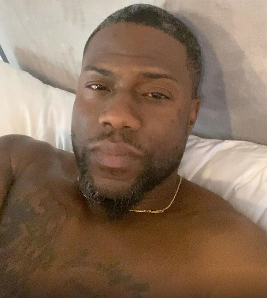 """<p>The actor <a href=""""https://people.com/style/kevin-hart-reveals-gray-hair-while-social-distancing/"""">revealed his gray hair</a> in an <a href=""""https://www.instagram.com/kevinhart4real/"""">Instagram</a> video series called """"Confessions from the Hart,"""" admitting that he is a """"frequent dyer.""""</p>"""