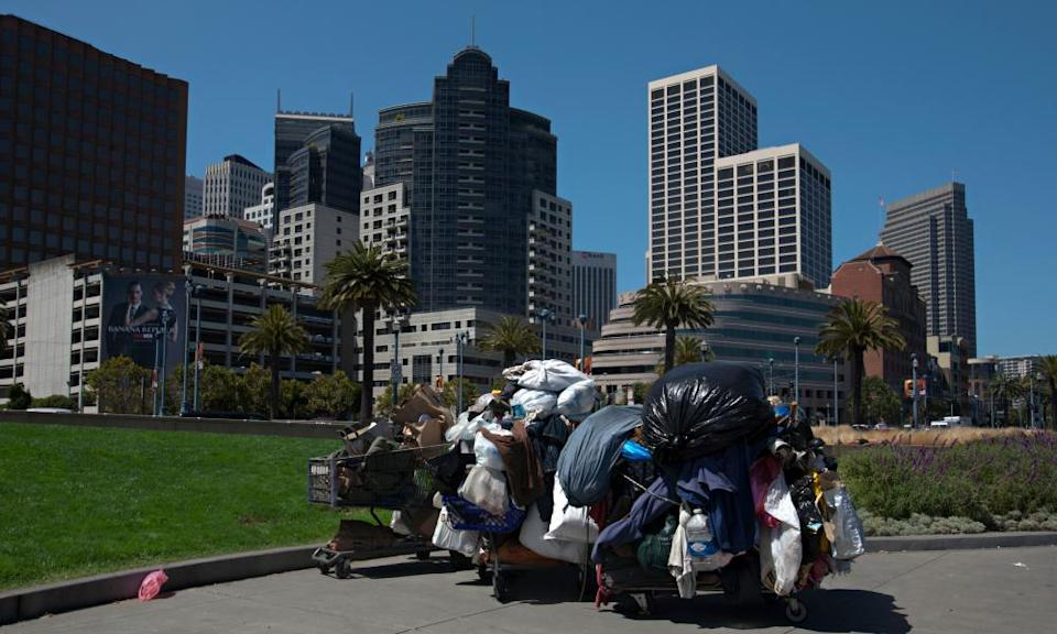 Homelessness is on the rise in San Francisco and other California cities.