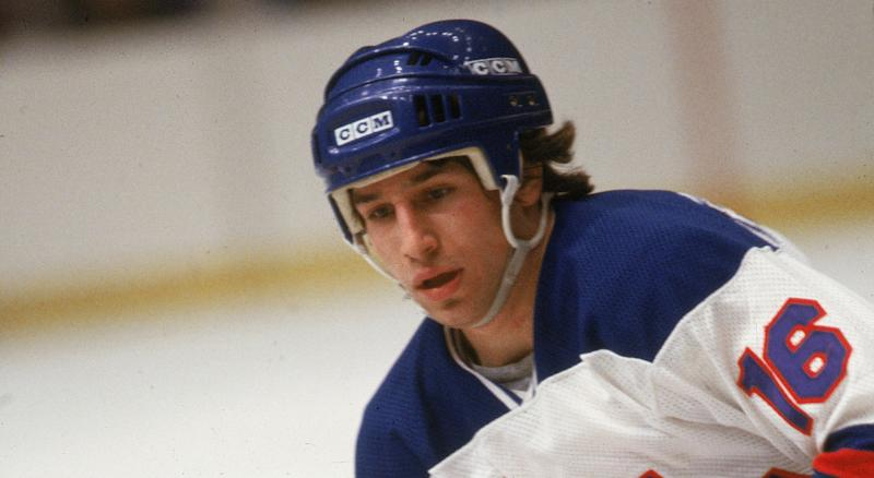 Mark Pavelich, seen here in a file photo from 1980, faced charges stemming from an incident over the summer in which he beat his neighbour with a metal pole. (Photo by Bruce Bennett Studios via Getty Images Studios/Getty Images)