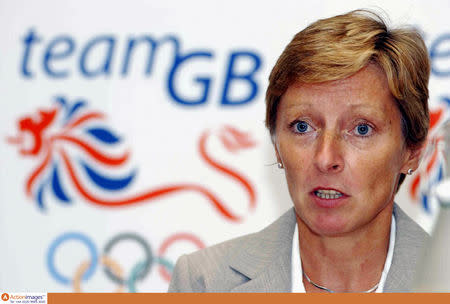 FILE PHOTO - British Olympic Association Press Conference - Clifford Chance, The Auditorium, 10 Upper Bank Street, Canary Wharf, London - 12/7/05 Director of Performance UK Sport, Liz Nicholl during the press conference Mandatory Credit: Action Images / Oliver Greenwood Livepic