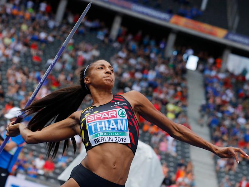 Nafi Thiam regained control in the javelin: EPA