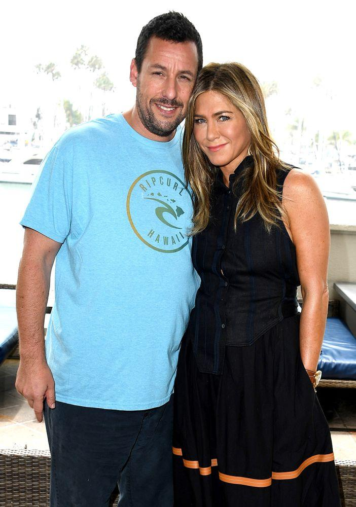 Adam Sandler and Jennifer Aniston. | Steve Granitz/WireImage