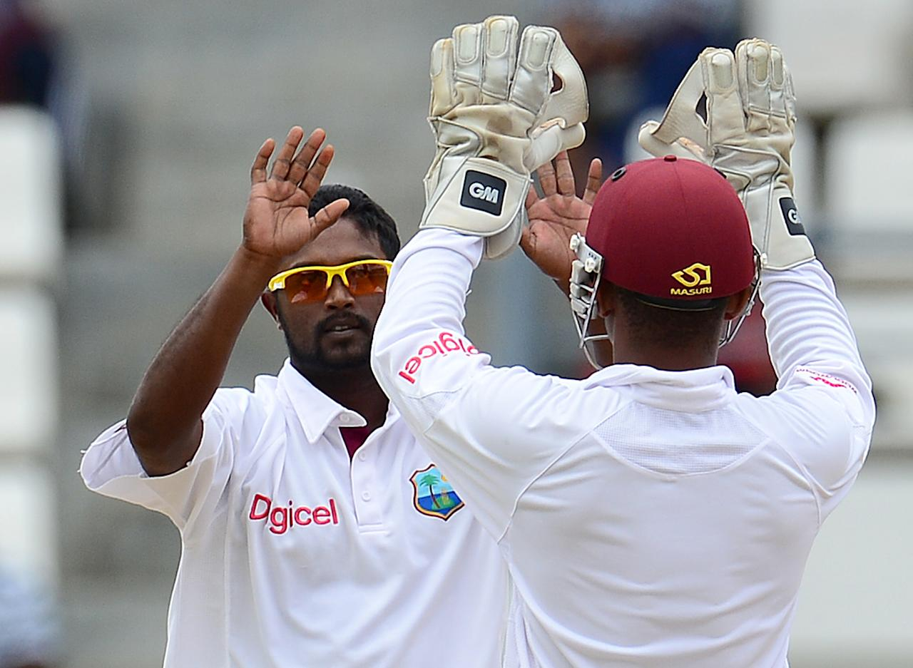 Narsingh Deonarine: The left-handed middle-order batsman replaced Marlon Samuels in West Indies's Test team; but had more success with his right-arm off-spinners. Deonarine scored only 117 runs; but took nine wickets at an average of 21.55 and economy rate of 2.77 in the three-Test series against Australia.