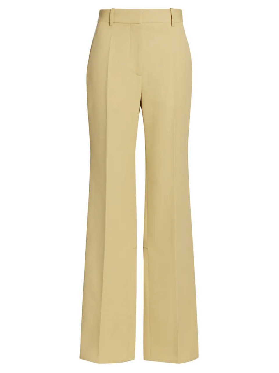 """<p><strong>Victoria Beckham</strong></p><p>Saks Fifth Avenue</p><p><a href=""""https://go.redirectingat.com?id=74968X1596630&url=https%3A%2F%2Fwww.saksfifthavenue.com%2Fproduct%2Fvictoria-beckham-split-hem-straight-leg-trousers-0400014198668.html&sref=https%3A%2F%2Fwww.harpersbazaar.com%2Ffashion%2Ftrends%2Fg37136850%2Fsaks-fifth-avenue-designer-sale-fashion%2F"""" rel=""""nofollow noopener"""" target=""""_blank"""" data-ylk=""""slk:Shop Now"""" class=""""link rapid-noclick-resp"""">Shop Now</a></p><p><strong><del>$850</del> $340</strong></p><p>""""A return to the office is incomplete without a work wardrobe refresh. These '70s inspired flare pants are at the top of my list.""""—<em>Sierra Mayhew, editorial coordinator</em></p>"""