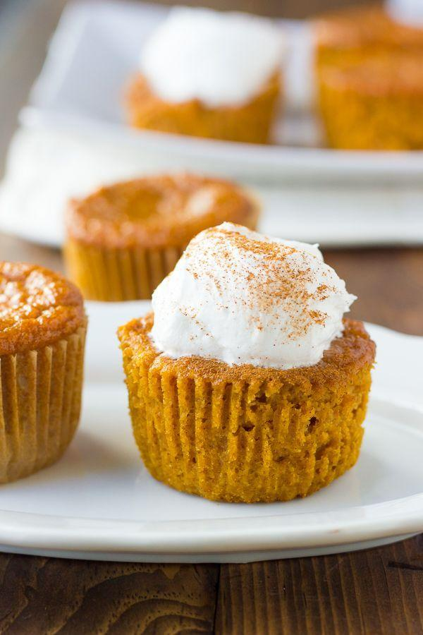 """<p>You won't even miss the crust.</p><p>Get the recipe from <a href=""""http://meaningfuleats.com/gluten-free-crustless-pumpkin-pie-cupcakes-dairy-free/"""" rel=""""nofollow noopener"""" target=""""_blank"""" data-ylk=""""slk:Meaningful Eats"""" class=""""link rapid-noclick-resp"""">Meaningful Eats</a>.</p>"""
