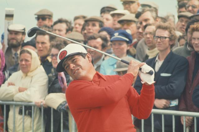 Lee Trevino at the Open in St Andrews in 1970. (Getty Images)