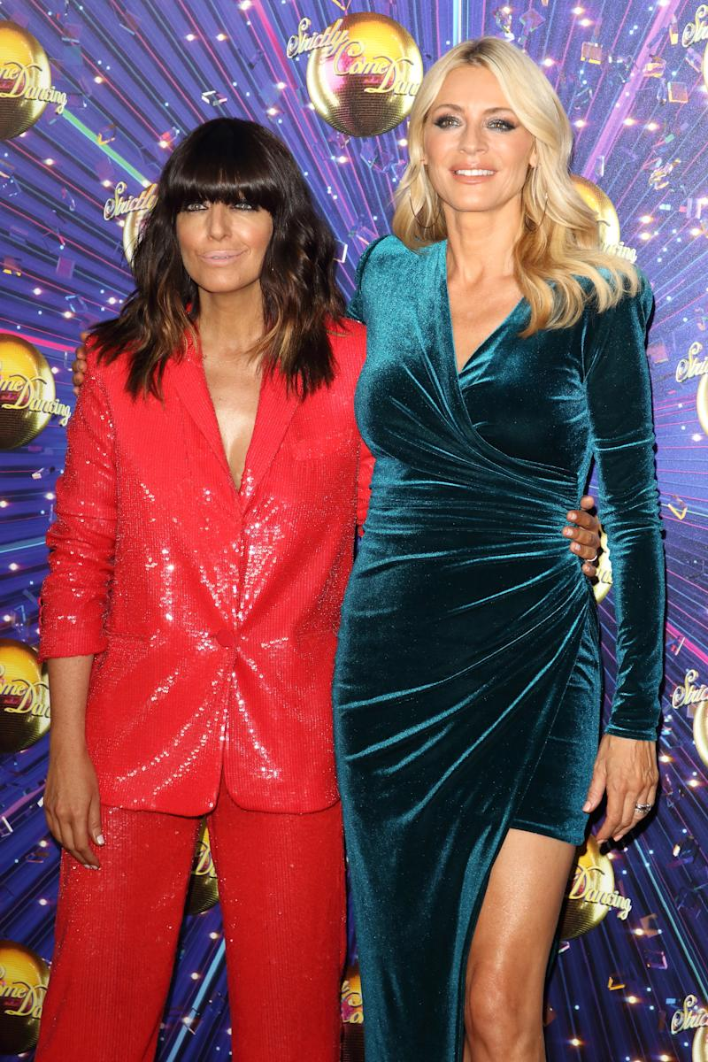 Claudia Winkleman and Tess Daly at the Strictly Come Dancing Launch at BBC Broadcasting House in London. (Photo by Keith Mayhew / SOPA Images/Sipa USA)