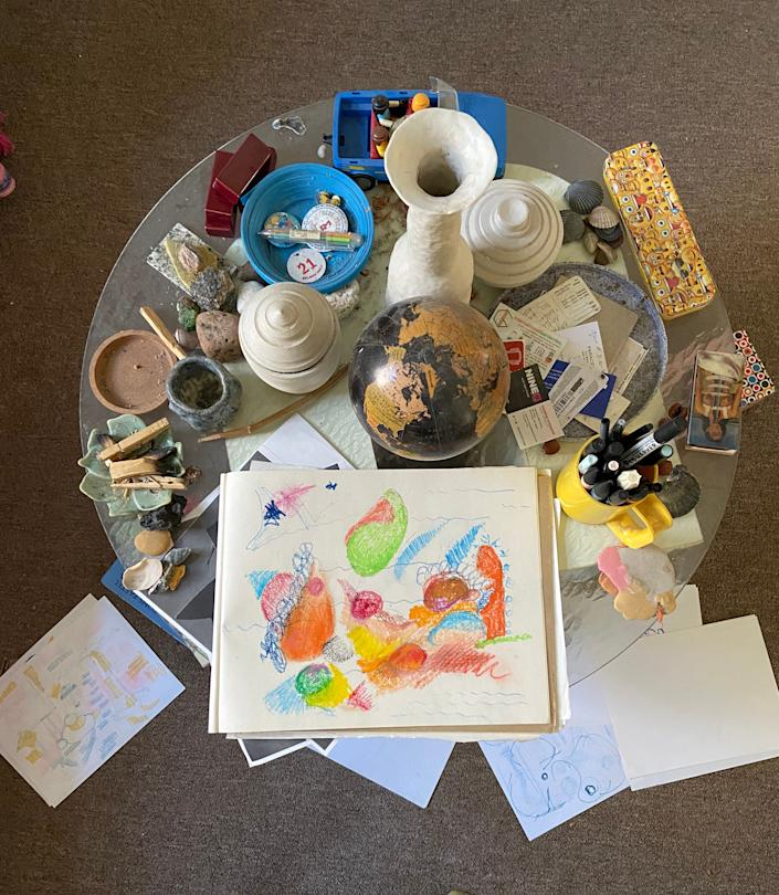 """<div class=""""caption""""> Joseph Algieri has been drawing and painting to subdue his anxiety. </div> <cite class=""""credit"""">Image: Courtesy of Joseph Algieri</cite>"""