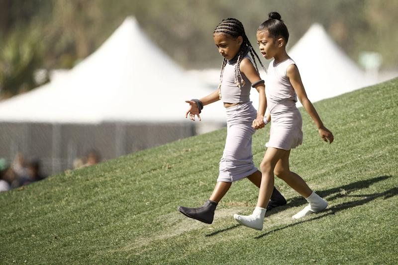 North West with a friend