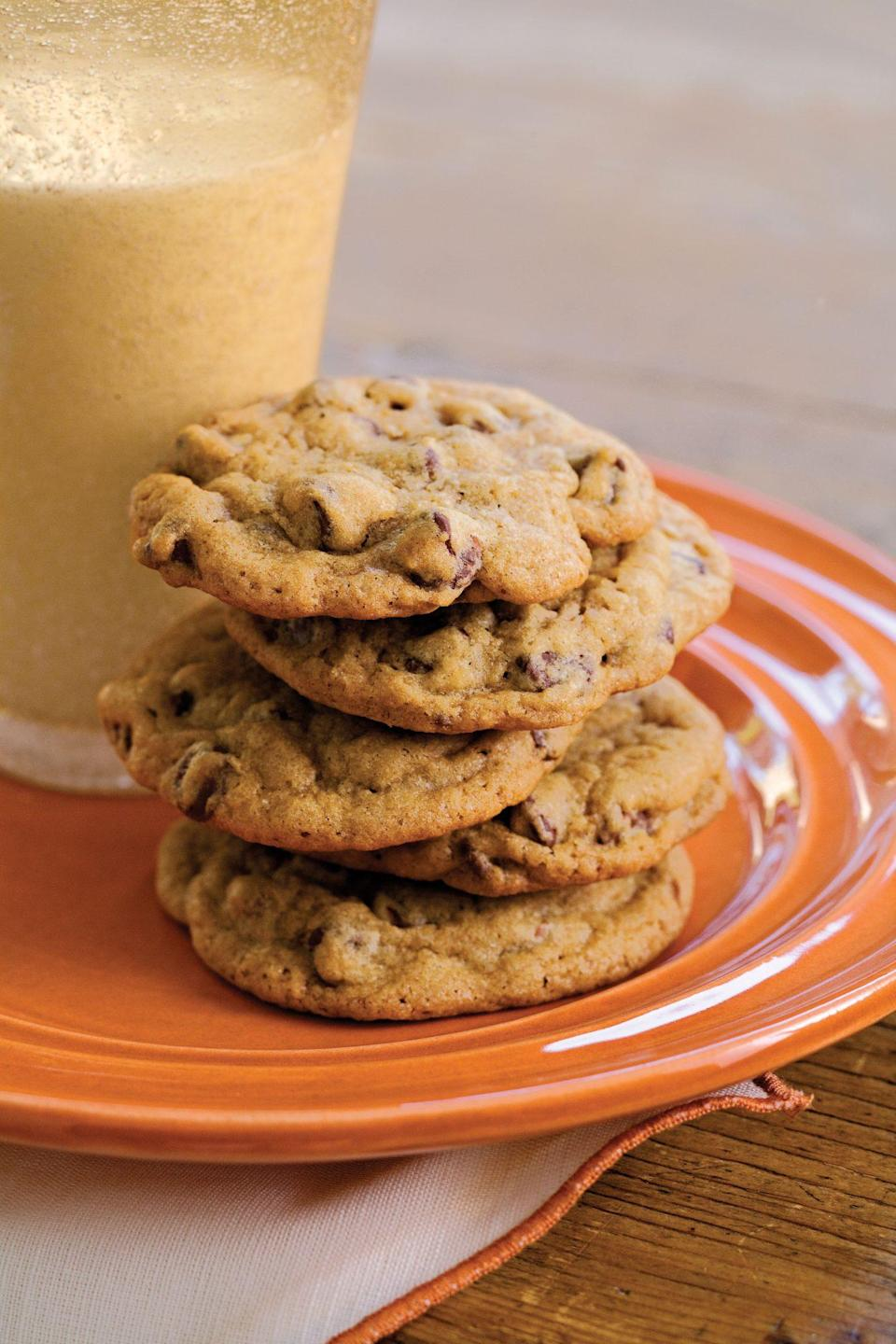 "<p><strong>Recipe: </strong><a href=""http://www.southernliving.com/syndication/all-time-favorite-chocolate-chip-cookies"" rel=""nofollow noopener"" target=""_blank"" data-ylk=""slk:All-Time Favorite Chocolate Chip Cookies"" class=""link rapid-noclick-resp""><strong>All-Time Favorite Chocolate Chip Cookies</strong></a></p> <p>The name says it all: You can never go wrong with this no-frills chocolate chip cookie recipe.</p>"
