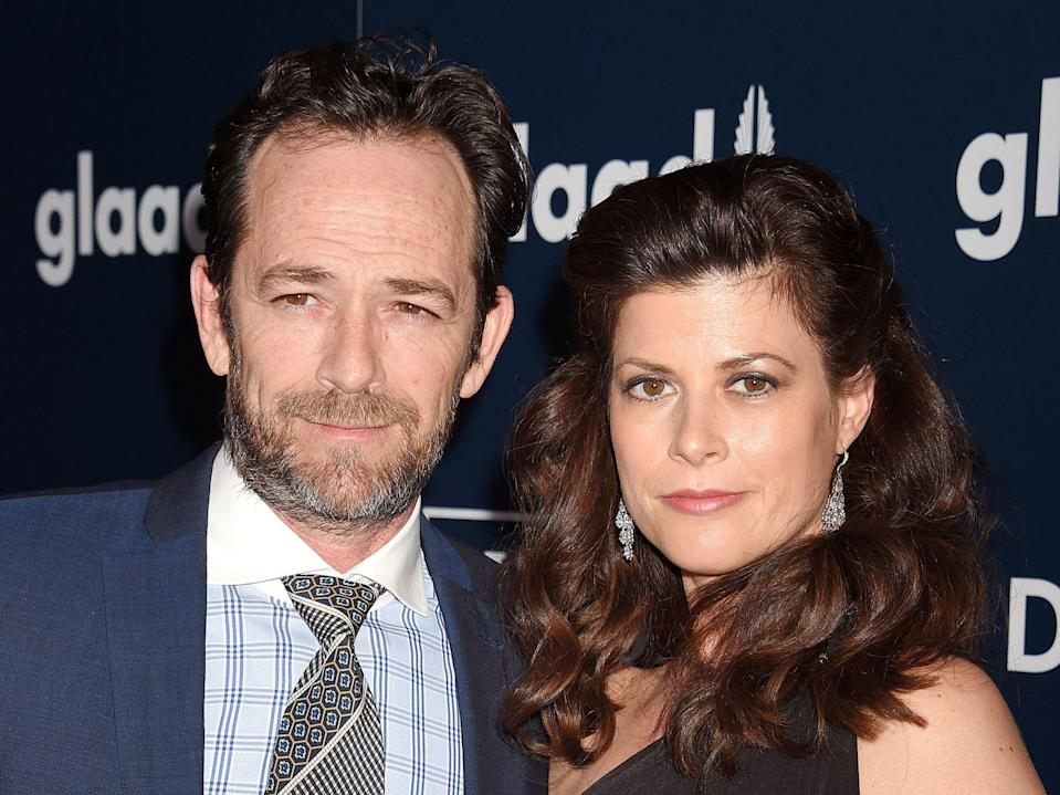 Luke Perry and Wendy Madison Bauer (Credit: Getty)