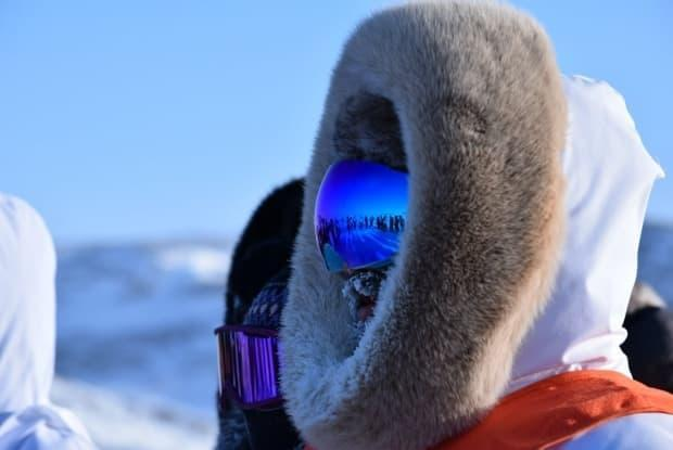 A musher waits to depart from Ivujivik, northern Quebec, during the 2021 edition of the Ivakkak Race. This year was the 20th time the race has been held.