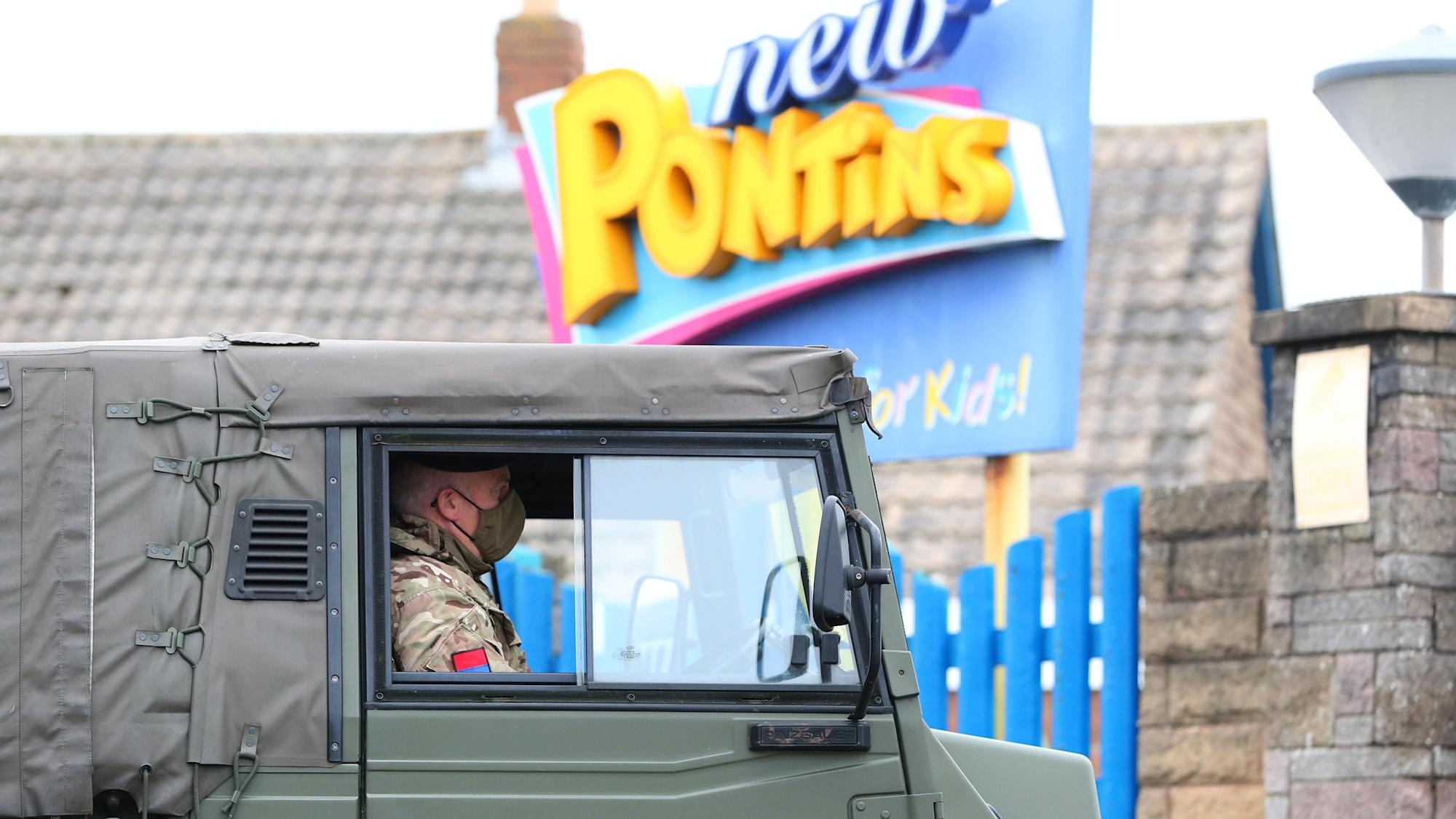 Soldiers stationed in Merseyside holiday park ahead of Liverpool mass testing
