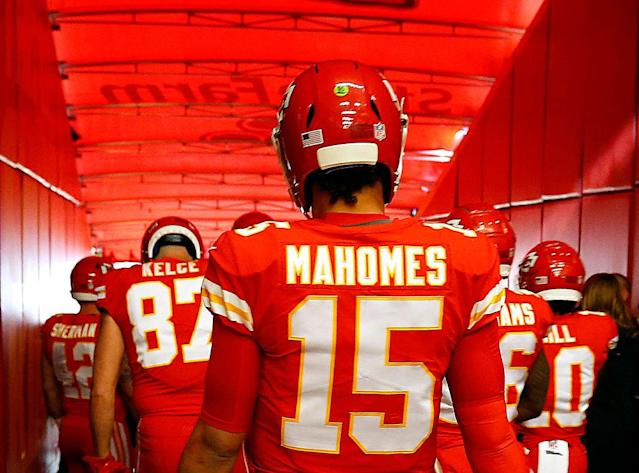 It's the fantasy championships. Are you trusting Patrick Mahomes and the high-flying Chiefs one last time? (Photo by Jamie Squire/Getty Images)