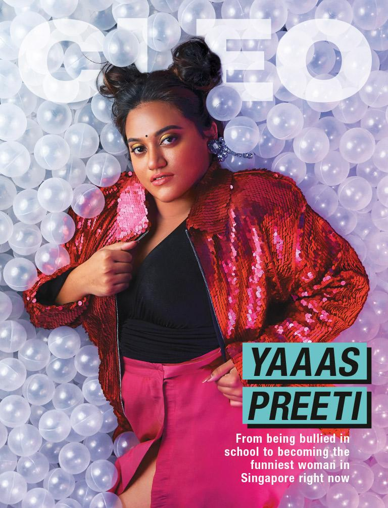 Preeti Nair on the cover magazine of Cleo Singapore July/August 2019 issue. (PHOTO: Cleo Singapore)