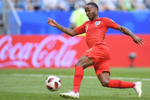 Raheem Sterling's pace caused problems to Sweden's defence (AFP Photo/Manan VATSYAYANA)
