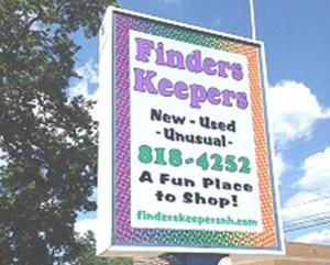 Finders Keepers sign (photo: finderskeepersnh.com)