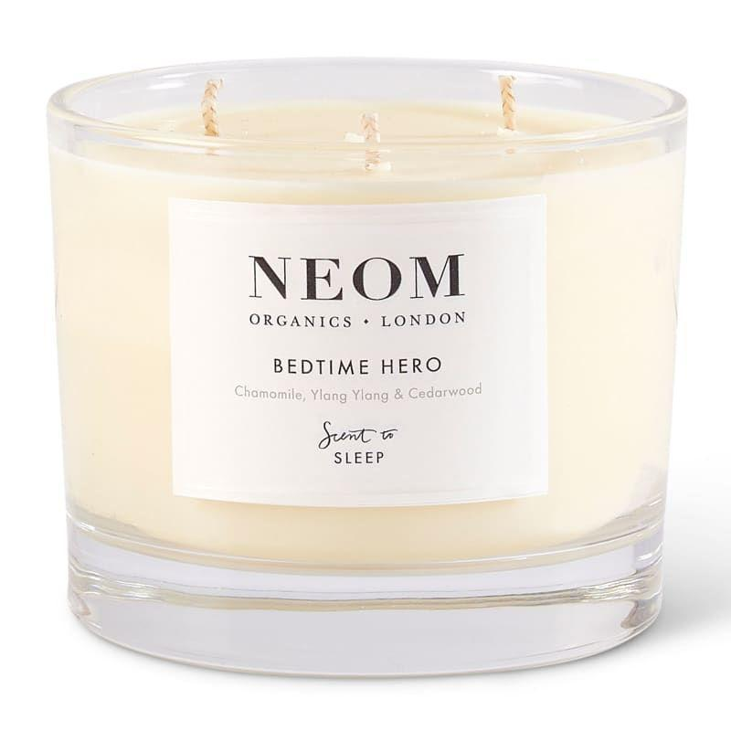 """<p>Neom Bedtime Hero </p><p>£46</p><p>Feelunique.com </p><p><a class=""""link rapid-noclick-resp"""" href=""""https://go.redirectingat.com?id=127X1599956&url=https%3A%2F%2Fwww.feelunique.com%2Fp%2FNEOM-Organics-London-Bedtime-Hero-Scented-Candle-420g%3Fcurr%3DGBP%26gclid%3DCj0KCQiAzZL-BRDnARIsAPCJs73V0RR3aVpzMCJkIAAzTmptYbAHaQqkeanzjezLbxAVeygMZWMQSWAaAlOdEALw_wcB%26gclsrc%3Daw.ds&sref=https%3A%2F%2Fwww.harpersbazaar.com%2Fuk%2Fbeauty%2Ffragrance%2Fg30698193%2Fbest-scented-candles%2F"""" rel=""""nofollow noopener"""" target=""""_blank"""" data-ylk=""""slk:SHOP NOW"""">SHOP NOW</a></p><p>This brand-new candle is a fresh alternative to Neom's classic <a href=""""https://go.redirectingat.com?id=127X1599956&url=https%3A%2F%2Fwww.lookfantastic.com%2Fneom-organics-real-luxury-luxury-scented-candle%2F10970346.html%3Fautocomplete%3Dproductsuggestion&sref=https%3A%2F%2Fwww.harpersbazaar.com%2Fuk%2Fbeauty%2Ffragrance%2Fg30698193%2Fbest-scented-candles%2F"""" rel=""""nofollow noopener"""" target=""""_blank"""" data-ylk=""""slk:Real Luxury"""" class=""""link rapid-noclick-resp"""">Real Luxury</a> scent. It's formulated with chamomile, rather than lavender, yet will quieten a racing mind just as well. </p><p>Three wicks are set into a sustainable vegetable-wax blend, which will burn for up to 50 hours.</p>"""