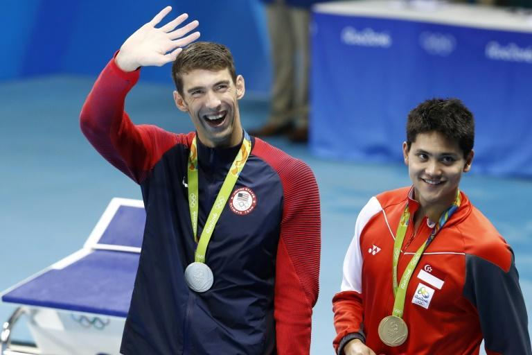 Schooling (R) beat US great Michael Phelps (L) in Rio