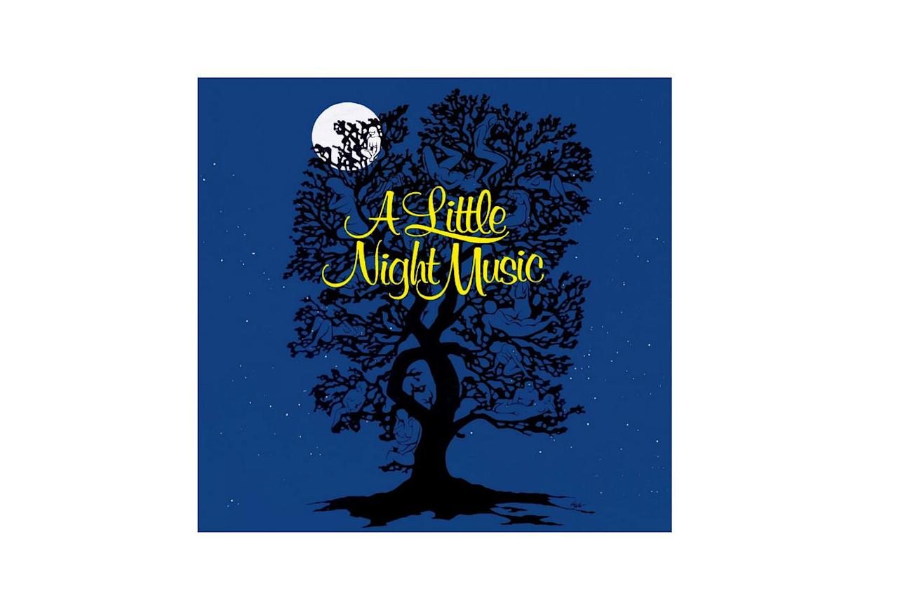 """<p>An oft-performed musical with music and lyrics by Stephen Sondheim, <i>A Little Night Music </i>is based on the Ingmar Bergman film <i>Smiles of a Summer Night </i>and premiered on Broadway in 1973<i>. </i></p> <p><b>Start with:</b> """"A Weekend in the Country,"""" """"Send in the Clowns""""</p> <p><b>Buy it:</b> $9, <a href=""""http://www.anrdoezrs.net/links/7885610/type/dlg/sid/SL%2CRX_1910_ALittleNightMusic_Musical%2Crogersc%2C%2CIMA%2C652206%2C201910%2CI/https://www.barnesandnoble.com/w/little-night-music/391520"""" target=""""_blank"""">barnesandnoble.com</a></p>"""
