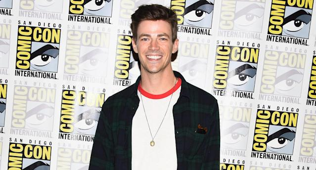 Grant Gustin promotes <em>The Flash</em> during Comic-Con International 2018 on July 21 in San Diego. (Photo: Araya Diaz/Getty Images)