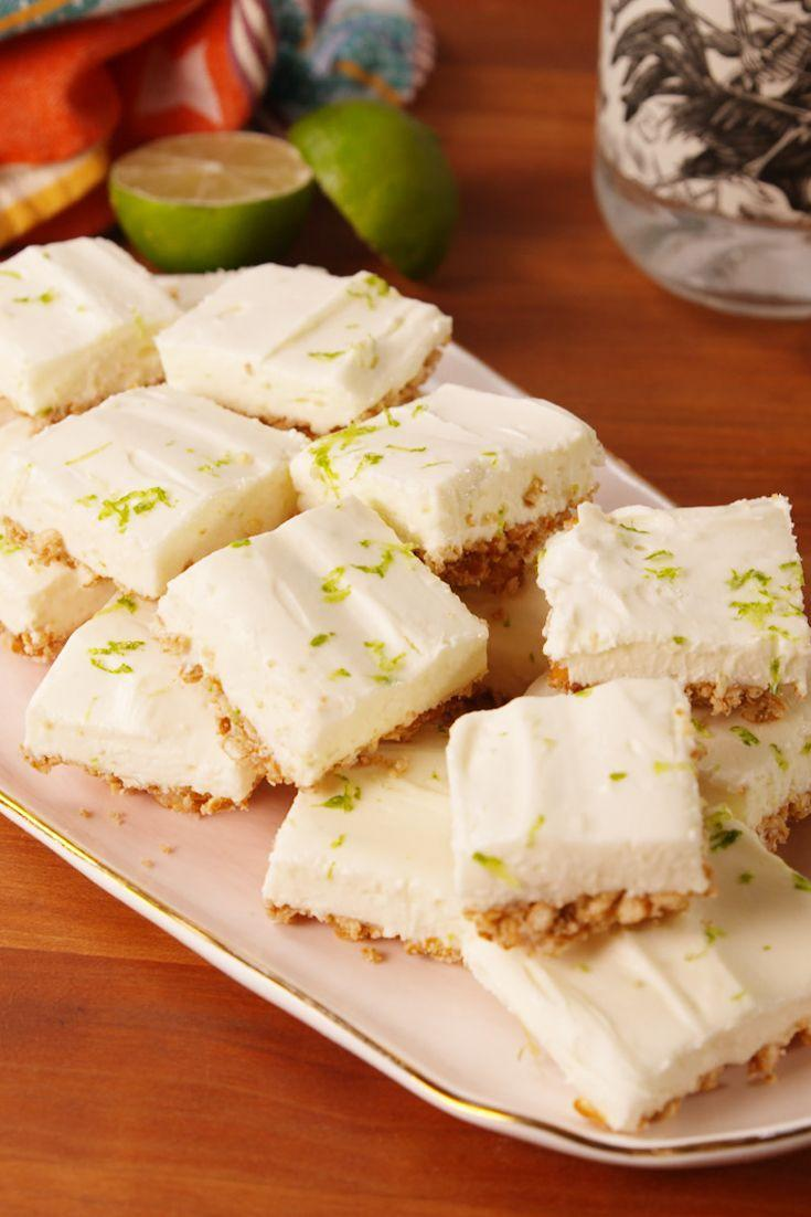 """<p>Think of the salty pretzel crust on these bites like a better version of the salty rim.</p><p>Get the recipe from <a href=""""https://www.delish.com/cooking/recipe-ideas/recipes/a54072/margarita-cheesecake-bites-recipe/"""" rel=""""nofollow noopener"""" target=""""_blank"""" data-ylk=""""slk:Delish"""" class=""""link rapid-noclick-resp"""">Delish</a>.</p>"""