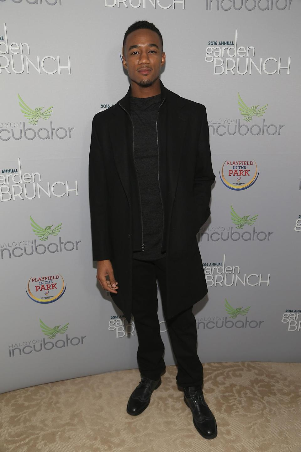 <p>Actor Jessie Usher attends the Garden Brunch prior to the 102nd White House Correspondents' Dinner, April 30. <i>(Photo: Paul Morigi/WireImage)</i></p>