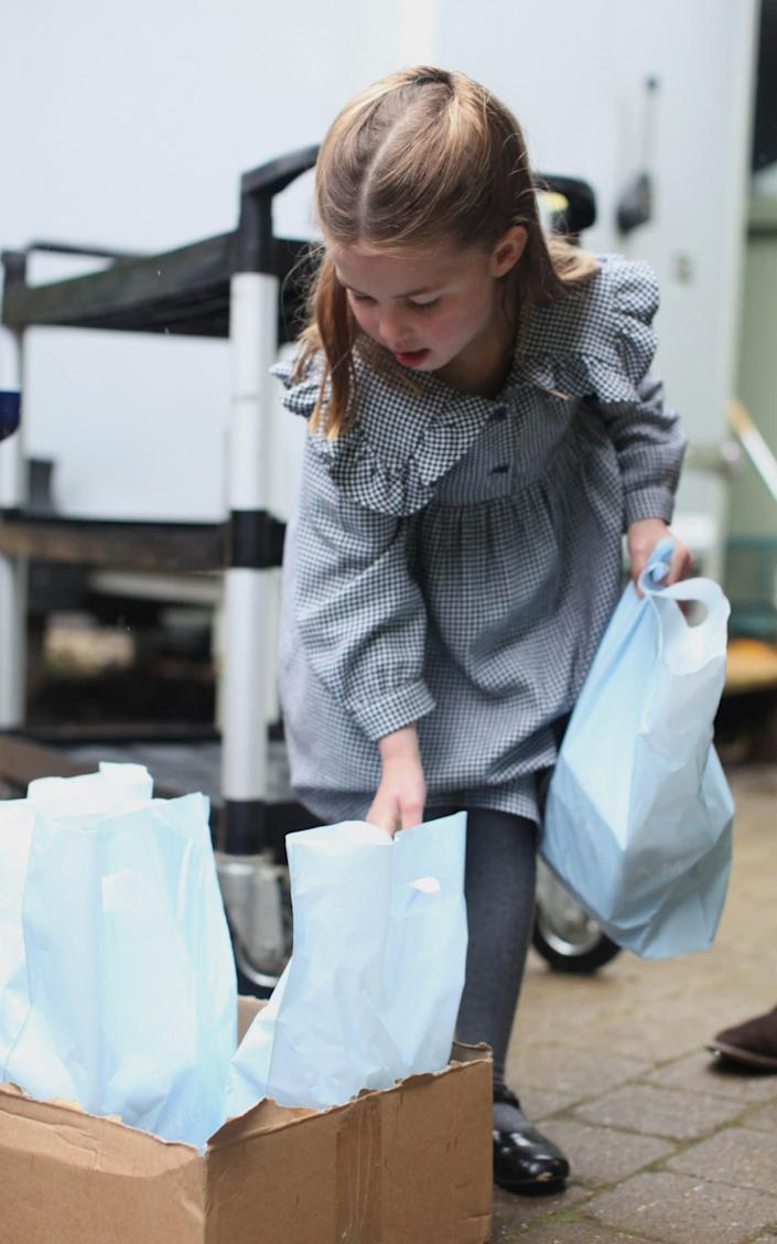 Princess Charlotte delivering food from the Sandringham Estate - Duchess of Cambridge