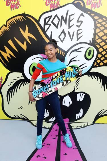 Navia Robinson partners with the California Milk Processor Board to kick off a week-long program of skate events at the @BonesLoveMilk Shredquarters, an indoor pop-up skatepark experience in Huntington Beach, Calif. on Wednesday, July 24. The skatepark is part of a week-long program hosted by the California Milk Processor Board dedicated to celebrating skate and California street culture while showcasing the real benefits of milk as nature's energy drink. (Photo by Matt Sayles/Invision for CMPB/AP Images)