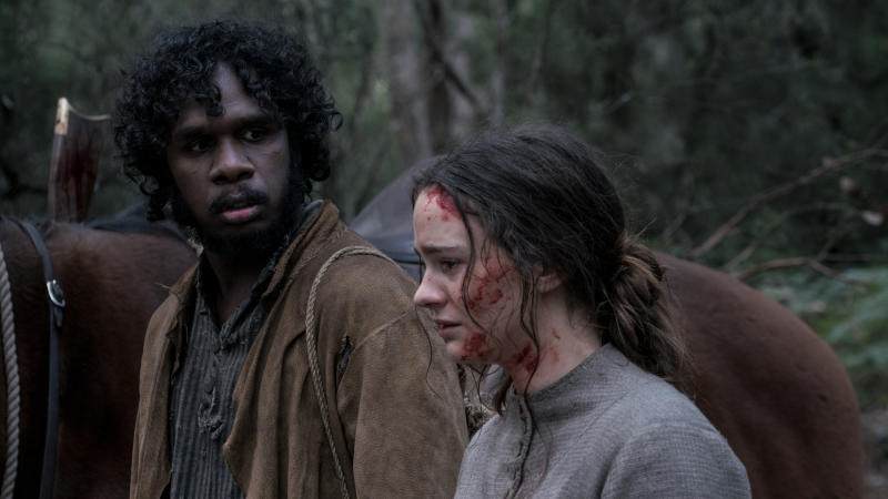 Baykali Ganambarr and Aisling Franciosi in 'The Nightingale'. (Credit: Vertigo Releasing)