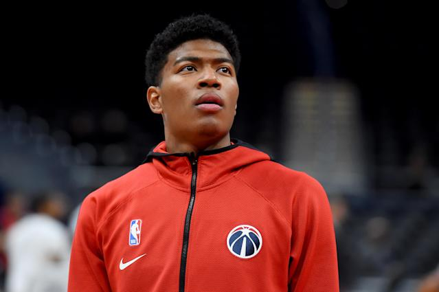 "Since drafting <a class=""link rapid-noclick-resp"" href=""/nba/players/6171/"" data-ylk=""slk:Rui Hachimura"">Rui Hachimura</a>, the <a class=""link rapid-noclick-resp"" href=""/nba/teams/washington/"" data-ylk=""slk:Washington Wizards"">Washington Wizards</a> have positioned themselves to try and capture the seemingly untapped Japanese basketball market. (Will Newton/Getty Images)"