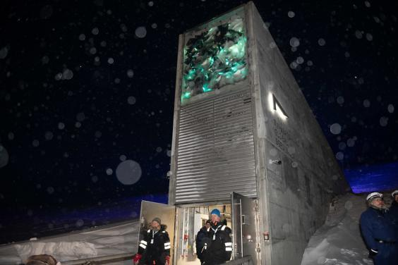 The Svalbard Global Seed Vault which stores the world's largest collection of crop diversity (Crop Trust)