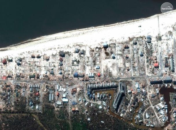 PHOTO: This satellite image provided by DigitalGlobe shows part of Mexico Beach, Fla., Oct. 12, 2018. (DigitalGlobe, a Maxar company via AP, FILE)