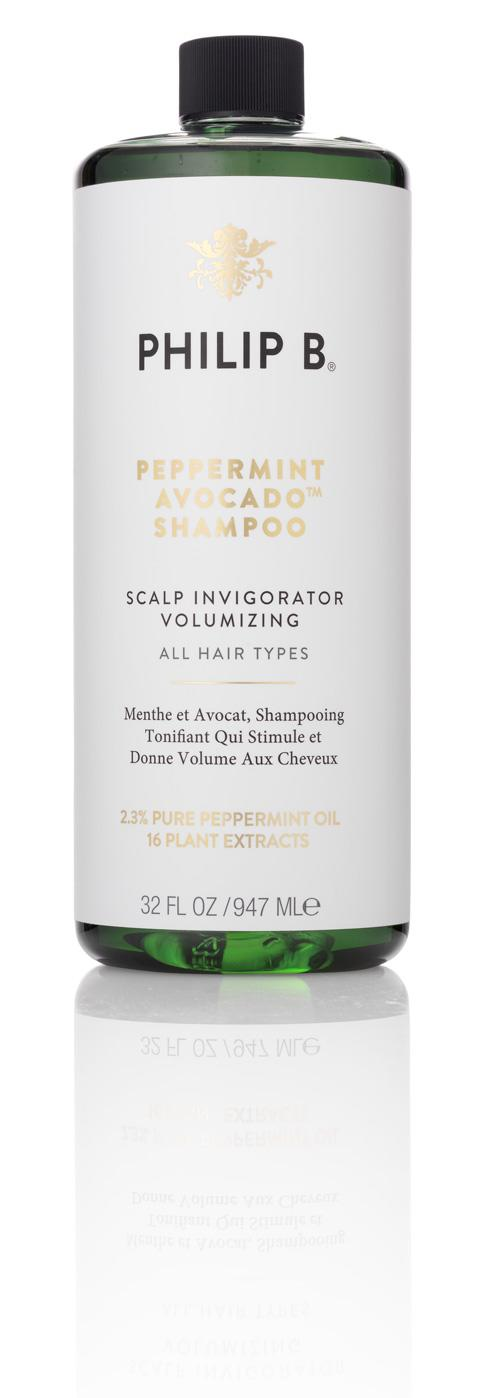 """<h3>Philip B. Peppermint Avocado Shampoo<br></h3><br>Another factor in hair thinning and loss in women: poor blood circulation. """"It is essential for nourishing cells throughout your body, including the scalp, but slows down as we age,"""" Philip B. says. He suggests performing a daily scalp massage with a product made to stimulate circulation and regulate cell turnover, like this shampoo made with a high concentration of invigorating medical-grade peppermint oil.<br><br><strong>Philip B.</strong> Peppermint Avocado Shampoo, $, available at <a href=""""https://go.skimresources.com/?id=30283X879131&url=https%3A%2F%2Fwww.dermstore.com%2Fproduct_Peppermint%2BAvocado%2BShampoo_22332.htm"""" rel=""""nofollow noopener"""" target=""""_blank"""" data-ylk=""""slk:DermStore"""" class=""""link rapid-noclick-resp"""">DermStore</a>"""