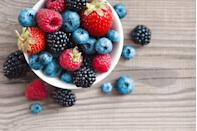 "<p>Berries will naturally brighten your dish and supply hunger-curbing fiber to satisfy sweet cravings. Their gem-like hues are a great indicator of their nutrient concentration. ""Dark pigmentation and rich color means the berries are high in disease-fighting antioxidants and phytochemicals,"" Mirkin explains.</p><p><strong>Try it: </strong><a href=""https://www.prevention.com/food-nutrition/recipes/g22038183/berry-fruit-recipes/"" rel=""nofollow noopener"" target=""_blank"" data-ylk=""slk:6 Creative (and Delicious) Ways to Eat More Berries"" class=""link rapid-noclick-resp"">6 Creative (and Delicious) Ways to Eat More Berries</a></p>"