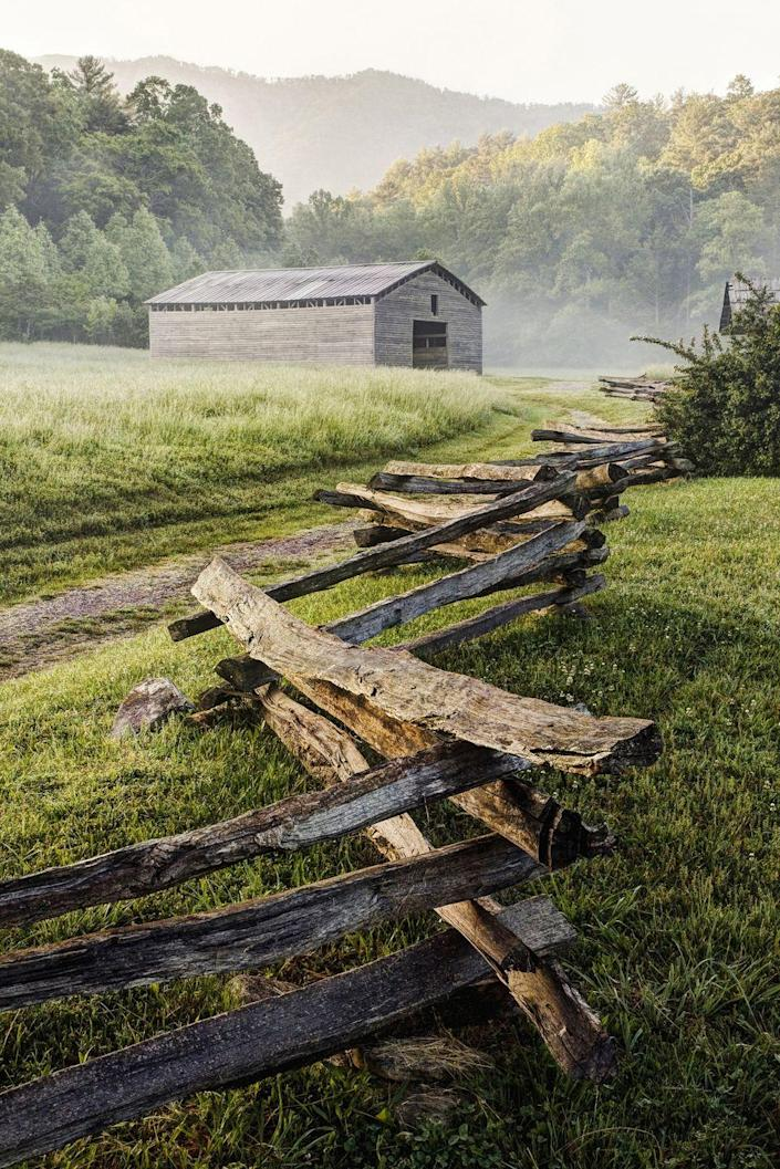 <p><strong>Where: </strong>Cades Cove, Tennessee</p><p><strong>Why We Love It: </strong>When you visit this isolated valley in the Great Smoky Mountains it feels like you've stepped back in time. Unfortunately, its beauty is no secret so head here in the off season to skip the traffic jam.</p>