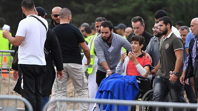 Zaid Mustafa, 13, has farewelled his father and brother who were killed in the NZ mosque shootings