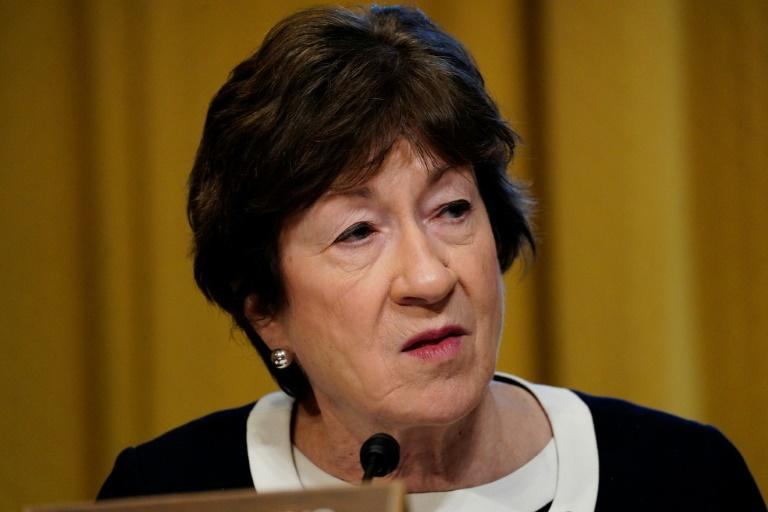 Senator Susan Collins is part of a group of Republican senators seeking to negotiate a compromise Covid relief bill with President Joe Biden