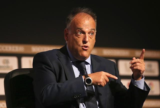 La Liga regular-season games in the United States? Not so fast, league president Javier Tebas. (Getty)