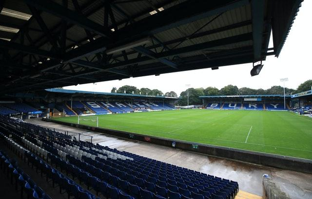 Bury were expelled from the EFL last year after running into financial difficulties