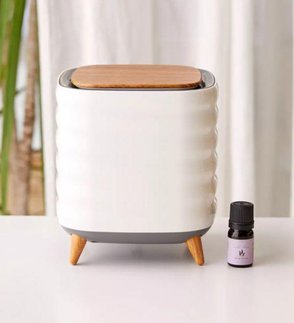 """This air purifier doubles as diffuser and has a HEPA filter to trap particles. <a href=""""https://fave.co/3m8Cxvc"""" target=""""_blank"""" rel=""""noopener noreferrer"""">Find it for $48 at Urban Outfitters</a>."""