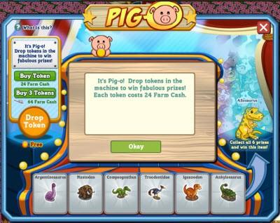 FarmVille Pig-O in action