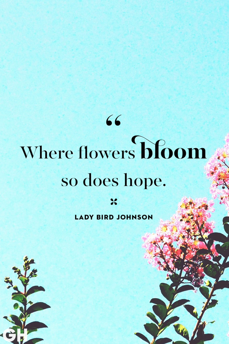 <p>Where flowers bloom so does hope. </p>