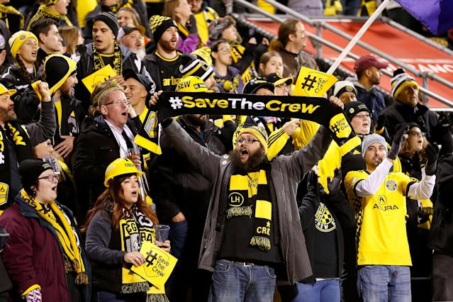 """<a class=""""link rapid-noclick-resp"""" href=""""/soccer/teams/columbus-crew/"""" data-ylk=""""slk:Columbus Crew"""">Columbus Crew</a> FC is reportedly staying put in Ohio after nearly a year of uncertainty and a potential move to Austin, Texas, likely under a new ownership group. (Getty Images)"""