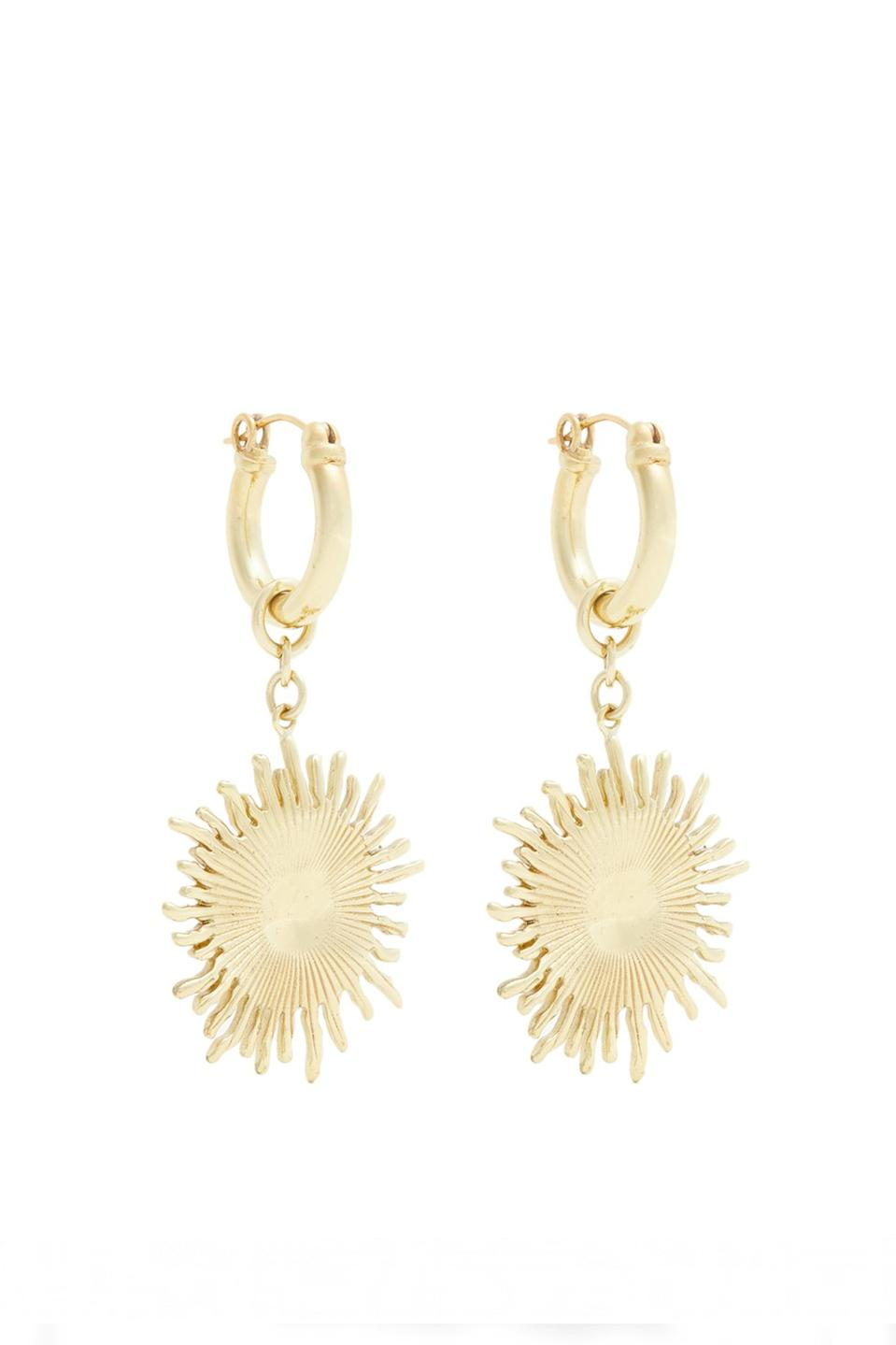 """<p>You can't possibly bag a whole new wardrobe without investing in some discounted bling. Ellery is by far one of the coolest labels on the fashion scene RN and we need to inject a dash of Vitamin D into our look with these sunshine-inspired jewels. <a href=""""https://www.matchesfashion.com/products/Ellery-Scully-small-sun-drop-earrings-1202073"""" rel=""""nofollow noopener"""" target=""""_blank"""" data-ylk=""""slk:Shop now"""" class=""""link rapid-noclick-resp""""><em>Shop now</em></a>. </p>"""