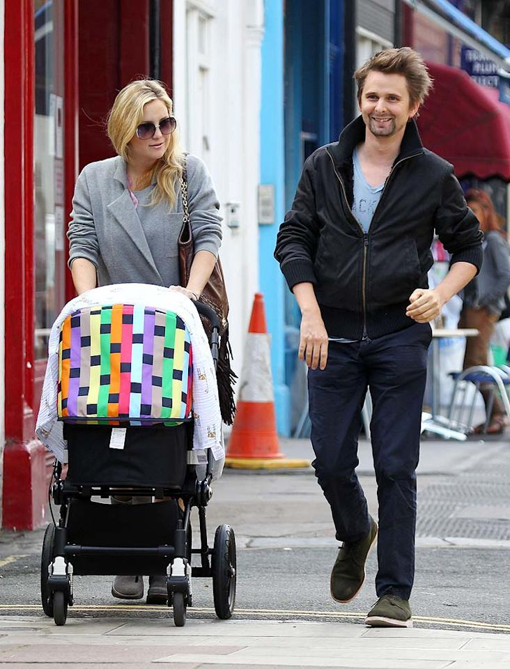 """Actress Kate Hudson gained a fiance and a second son in 2011! The """"Bride Wars"""" star announced her pregnancy in January and her engagement to the baby daddy, Muse rocker Matthew Bellamy, in April, then gave birth to son Bingham, who joins Kate's 7-year-old son Ryder, on July 9. Whew! When do you think the couple will tie the knot?"""